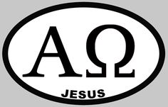 Alpha and Omega The combination of two Greek letters, Alpha and Omega makes a powerful Christian symbol that represents the eternal existence of God. Alpha is the first letter of the Greek alphabet, while omega is the last one. Therefore, together they symbolize that God is the beginning as well as the end. The use of Alpha and Omega symbol of eternity has been traced to early Christianity and the symbol has been found in the ancient Roman catacombs.