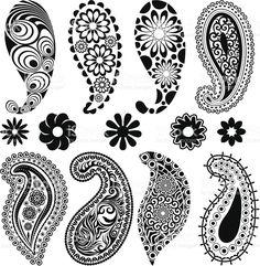 Decorative set royaltyfri vektorgrafik i bildbank