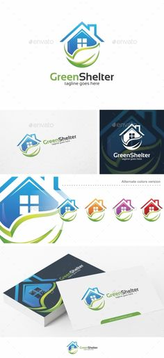 Green Shelter / House - Logo Template Vector EPS, AI. Download here: http://graphicriver.net/item/green-shelter-house-logo-template/15083962?ref=ksioks