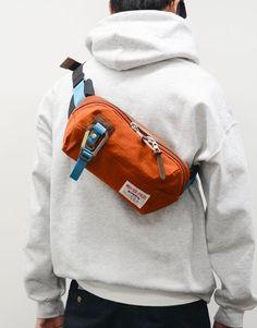 Link Waist Bag - Orange at Kafka Mercantile Cow Leather, Leather Bag, Diaper Bag, Orange Bag, Hip Bag, Backpack Bags, Crossbody Bag, Backpacks, Mens Fashion