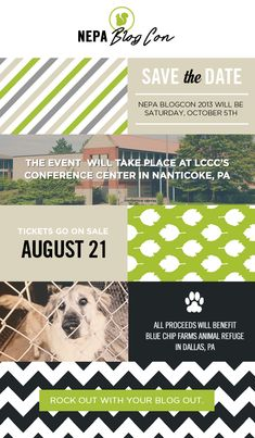 SAVE THE DATE! NEPA BlogCon is October 5 at the LCCC. Tickets on sale August 21.