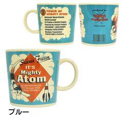 Astro Boy Mighty Atom Mug Cup Goodies Blue Osamu Tezuka JAPAN-01
