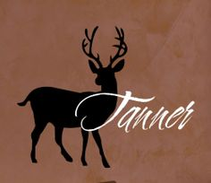 Deer Vinyl Wall Art with Personalized Name Decal Home Decor