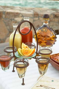 Which do you prefer: lime & salt or orange & cinnamon? Tequila Tasting, Lime Salt, Alcoholic Drinks, Cocktails, Fiesta Party, Party Items, Spicy Recipes, Tex Mex, Hot Sauce Bottles