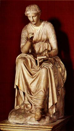 """Kalliope means """"beautiful-voiced."""" It is the name of one of the nine muses. She is also the goddess of eloquence and the muse of epic poetry. In all depictions of Kalliope, she is seen holding a writing tablet."""