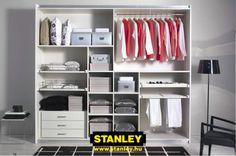 Tolóajtós szekrény belső elrendezése bútorlapos kialakítással - Stanley 10