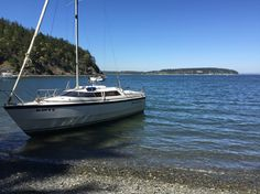 MacGregor 26X with 70hp outboard.  At Inati Bay, Washington state.