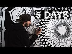Drawing One Mandala For Five Days Living In Peru, Paint Pens, Youtube, Drawings, Wall, Crafty, Diy, Bedrooms, Painted Walls