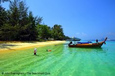 Trang Islands, Thailand, the clear waters off Koh Kradan are famous, attracting large numbers of snorkelers.