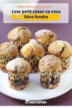 Muffins coeur nutella, un petit plaisir pour le goûter #gouter #muffin #nutella #recette #marmiton #recettemarmiton #cuisine