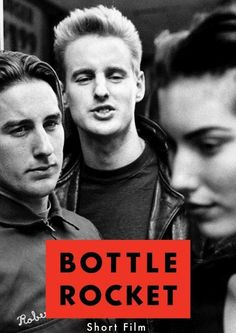 Bottle Rocket poster with very young Wilson Brothers...