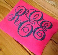 Tshirt iron on monogram glitter letters initials personalized glitter original for sweatshirts tshirts on Etsy, $4.00
