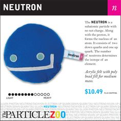 The Particle Zoo: Subatomic Particle plushies