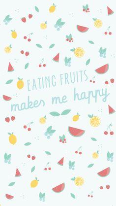 Spring / Summer Fruits iPhone Wallpaper @PanPins