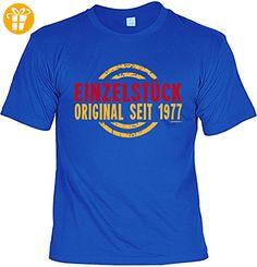 lustiges T-Shirt 40 Jahre Geschenk zum 40 Geburtstag - Einzelstück seit 1977 für Männer Gr.: XL : ) - T-Shirts mit Spruch | Lustige und coole T-Shirts | Funny T-Shirts (*Partner-Link)