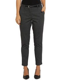 Oliver Black Tailored Spot Pant with PU Belt product photo