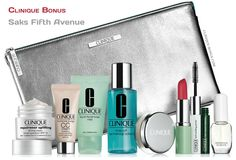 9-pc Clinique gift from Saks. Free with $45 purchase. http://clinique-bonus.com/other-us-stores/