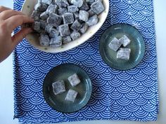 Black Sesame Mochi Dango. Sweet and chewy mochi rice dumplings with the nutty flavor of toasted black sesame.