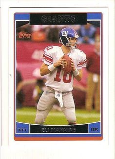 2006 Topps New York Giants Team Set . . . Featuring Eli Manning * Read more  at the image link.