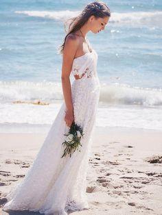 Boho beach wedding dress   Free People Lola wedding dress for a beach wedding