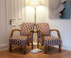 Reupholstered chairs by Polly Granville - UPCYCLIST