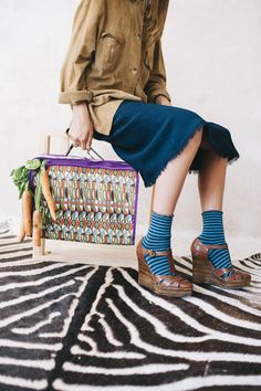 Calcetines Hop Socks. Splendid Stripes blue. www.hopsocks.com Lucia M. Photo
