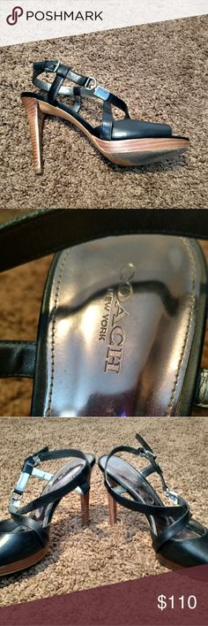 Size 9 Coach leather strappy sandal Size 9 Coach leather strappy sandal! I love these... They were hard to finally find in my size but I'm unable to wear them anymore. Someone please give these beauties some love! Coach Shoes Sandals