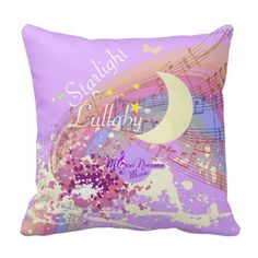Starlight Lullaby Colorsplash Throw Pillow by #MoonDreamsMusic #ThrowPillow #square #music #colorful