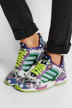 adidas Originals|+ Mary Katrantzou Track ZX 5000 scuba-jersey sneakers|NET-A-PORTER.COM