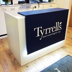 A reception desk we recently installed for #tyrellscrisps. #quadrifoglio #officity #huntsoffice