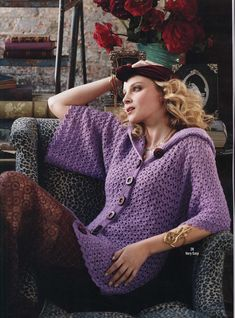 Designer friend Mary Beth Temple designed this beautiful hooded crochet sweater for the 2013 issue of Vogue Knitting Crochet Collectors Edition. Love it! I have a nag in this issue too