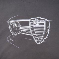 Alfa Romeo Giulia Sprint GTA Sportwagen T-shirt Kohle