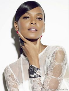 Ethiopian model Liya Kebede posed on for the photographers Sean & Seng wearing makeup done by L'Oréal Paris during the 2013 edition of t...