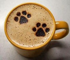 Morning Coffee and a furry friend start the day with love~♥~