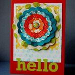 Hello flower card
