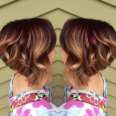Angled, Curly Hair Cut