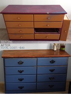 How To Refinish Old Furniture on a lazy (cheap) sunday