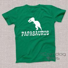 Papasaurus Shirt, Papa Tshirts, Papa Gift, Papa Shirt, Gift ideas for Dad, Gifts for Papa, Gift for Grandfather Shirt, Papa Tshirt, by CorndogTees on Etsy