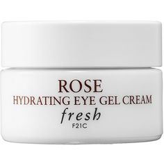 Fresh Rose Hydrating Eye Gel Cream ($40) ❤ liked on Polyvore featuring beauty products, skincare, eye care, beauty, fillers, makeup, other, white, fresh perfume and fresh skin care