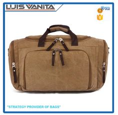 Check out this product on Alibaba.com App Large Capacity Khaki Canvas Latest Model Travel Bags
