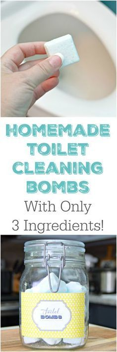 Homemade Cleaning Products - 3 Ingredient Homemade Toilet Cleaning Bombs - DIY Cleaners With Recipe and Tutorial - Make DIY Natural and ll Purpose Cleaner Recipes for Home With Vinegar, Essential Oils Homemade Cleaning Products, House Cleaning Tips, Natural Cleaning Products, Cleaning Diy, Household Products, Household Cleaning Tips, Apartment Cleaning, Bathroom Cleaning Hacks, Kitchen Cleaning