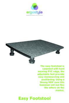 Easy adjustable Footstool provides foot elevation when you are using a NON adjustable desk Adjustable Desk, Easy, Design