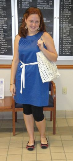 Goodwill outfit: Dress (altered) $5, Belt $.99, Bag $2.99 = To see the Before and after Click on the pic! Thrift Store Outfits, Summer Sundresses, Thrifting, Belt, Summer Dresses, Belts, Budget