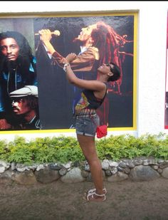Trying to impersonate Bob Marley! Bob Marley Museum Kingston Jamaica