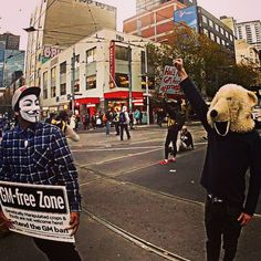 Fight for your rights ! A white bear protest for his black brothers #together# #fuckpolice #Ferguson#Newyork #freemind#allweneedisjustice