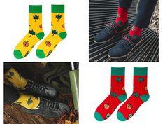 Casual socks yellow socks red socks  Mens socks cool sock