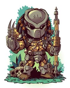 All new chibis are on sale right now at www.dereklaufman.com (link in my profile) Use the promo code SUMMER at checkout to save 25% when you spend $30 or more. Don't miss out! We ship worldwide! #predator #chibi #fanart #mangastudio #dereklaufman