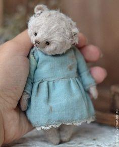 Tammie (11cm) - мишка,мишка-тедди,мишка в платье,Маленький мишка,винтажный мишка