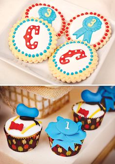 Donald Duck Inspired cupcakes