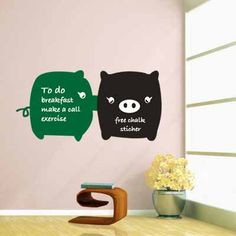Cheap posters room, Buy Quality posters free directly from China decals baby Suppliers: Cute Kissing Pig Top Grade Creative Chalkboard Wall Sticker Vinyl Wall Decals Removable Poster